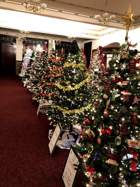 Christmas Trees In Lincoln Theatre Lobby